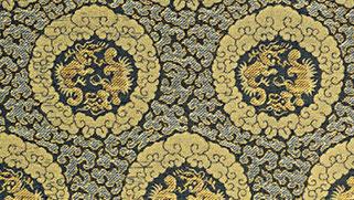 掛軸表装 仏用緞子 準金襴鳳凰紋