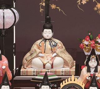 真多呂人形 瑞花雛10人飾りの男雛
