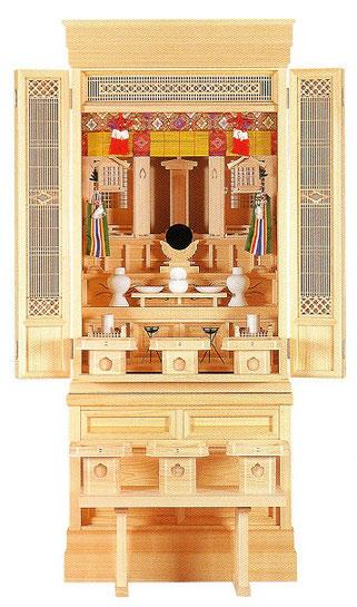 神徒壇と神具一式のお飾りイメージ
