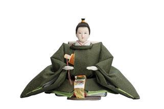 優香作「親王飾り」麹塵 男雛(京十一)