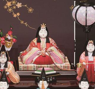 真多呂人形 瑞花雛10人飾りの女雛