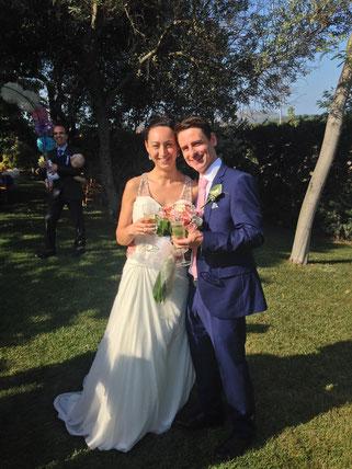 Leonard and Sabina on their big day