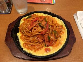 これこれ。いつ来ても必ずいただく名古屋飯「鉄板スパゲッティ」。完全にはまっている(笑)