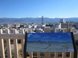 舞鶴城公園からの眺め。富士山の頭が見えた^^