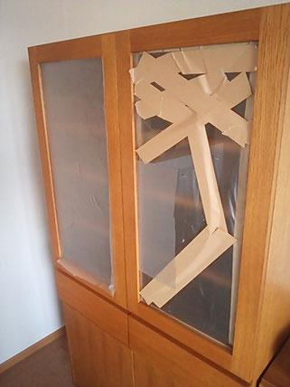 食器棚扉修理