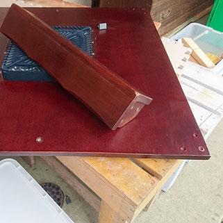 コタツ天板割れ補修