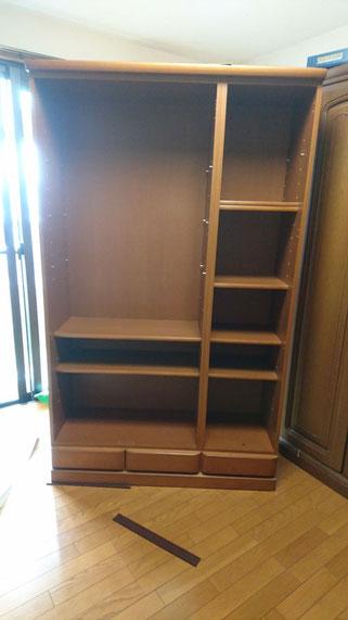 書棚背板修理