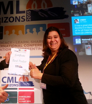CML Horizons 2015 LMC France Best Poster advocates network leukemia myeloid chonic leucemie myeloide chronique STEPHANE DABAN MINA