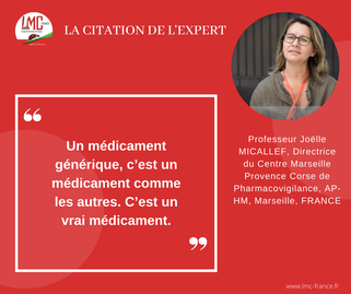 Interview Professeur Joelle Micallef - Mina Daban - LMC et génériques - Citation de l'expert - Médicaments