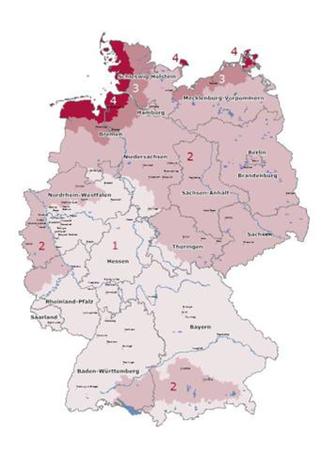 Wind-Typenklassen-Verteilung in Deutschland