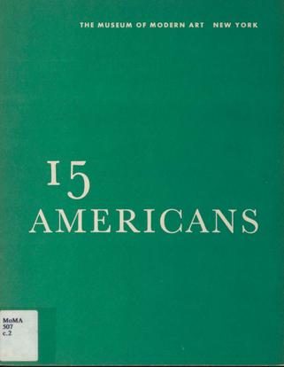 『15人のアメリカ人』展カタログ表紙。
