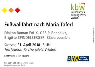 Fußwallfahrt Maria Taferl