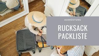 Rucksack, Packliste, Ausrüstung, Langzeitreise, Weltreise