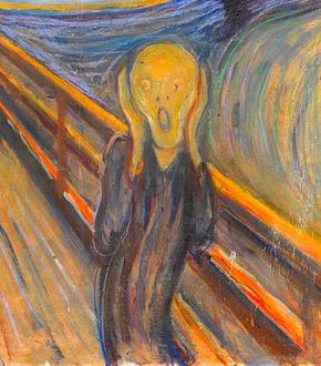 """Extrait de """"Le Cri"""" 1893, Edvard Munch / clic pour attributions"""
