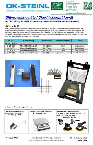 OK-STEINL Gitterschnittgeräte - Oberflächenprüfgerät