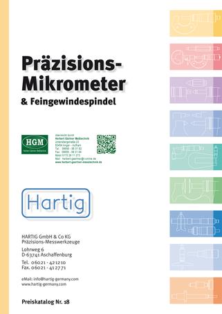 Hartig - Präzisions-Mikrometer und Feingewindespindel 2017