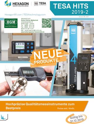 TESA HITS - Hochpräzise Qualitätsmessgeräte- ZU BESTPREISEN ! Online-Blätterkatalog 01-2019