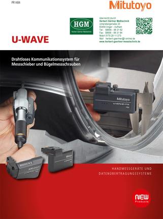 Mitutoyo U-Wave Drahtloses Kommunikationssystem für Messschieber und Bügelmessschrauben