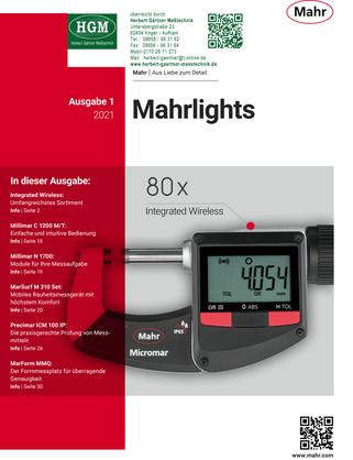 Mahr Metrology - Mahrlights-Katalog 01/2021