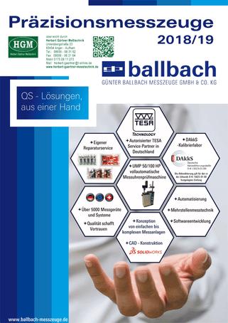 Ballbach - Präzisionsmesszeuge - Katalog 2018/2019