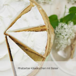 Rhabarber-Käsekuchen mit Baiser