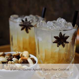 Weihnachtlicher Aperitif Spicy Pear Cocktail