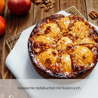 Klassischer Apfelkuchen mit Nusscrunch