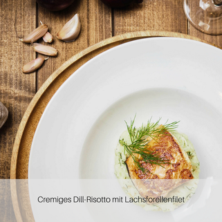 Dill-Risotto mit Lachsforellenfilet
