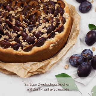 Zwetschgenkuchen mit Hefeteig und Zimt-Tonka-Streuseln