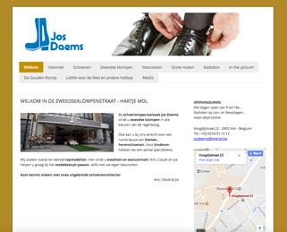 Van Bun Communicatie en Vormgeving - Website BSchoenen Jos Daems