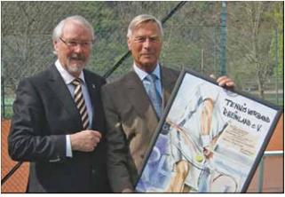 1. vorsitzende Herr Gunter Krocke rechts, Tennisverband Herr Friedhelm Kurz
