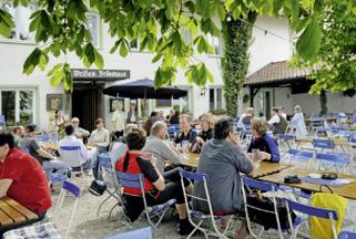 Biergarten beim Graminger Weißbräu