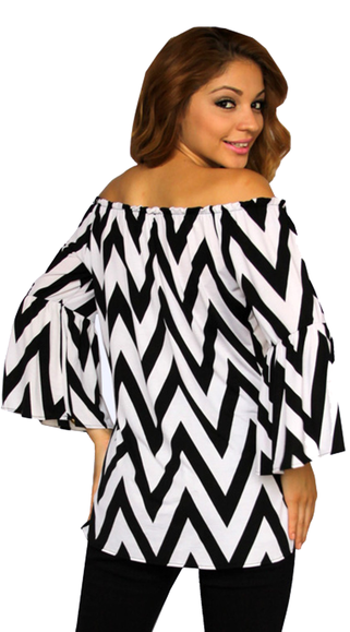 black and white long sleeve maternity top
