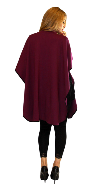 maternity poncho one size color purple