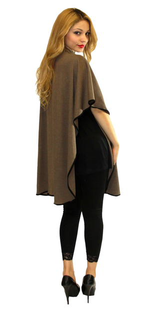 maternity poncho one size color mocha