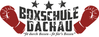 Boxschule Dachau Logo mit roten Boxhandschuhen