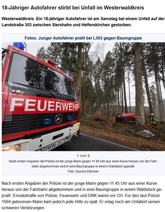 Bericht der Westerwälder Zeitung vom 05.01.2013