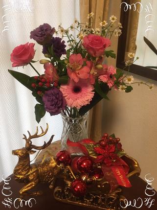 生徒さんに頂いたお花です♪