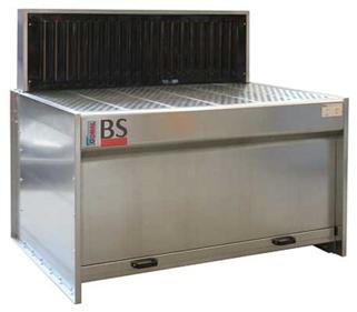 I banchi aspiranti modello BS vengono impiegati per aspirazione fumi e polveri saldatura, sbavatura, nell'aspirazione polveri legno da levigatura, aspirazione polveri di marmo, aspirazione fumi e polveri settore metalmeccanico, fonderie