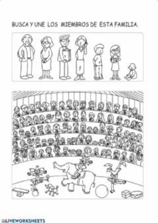 BUSCA LA FAMILIA ENTRE EL PÚBLICO  (Estimulación, memoria y atención)