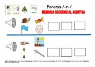 COLOCAR DE FORMA ORDENADA (Memoria secuencial auditiva)