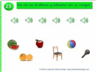 OYE EL DELETREO Y RELACIONA CON SU IMAGEN (Memoria auditiva)