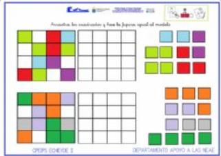 Sudoku-atención: Colocar piezas imitando el modelo