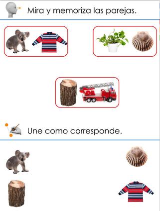 RECORDAR PAREJAS DE IMÁGENES (Memoria visual)