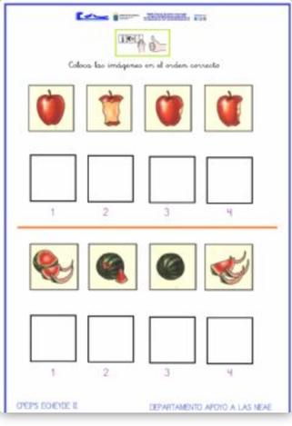 Estimulación, memoria y atención: Ordenar secuencias temporales