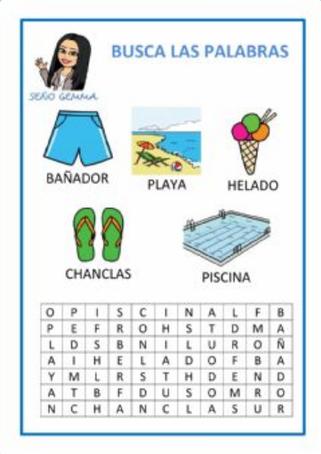 SOPA DE LETRAS ( Memoria visual)