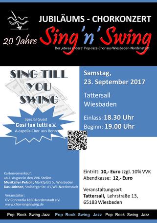 Plakat Jubiläumskonzert