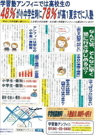 北海道新聞・朝刊折込(裏)