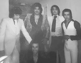 Los Chichos junto al Beibi,y Antonio Humanes 1977