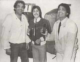 Los Chichos con pelotazo en mano 1985